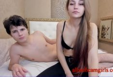 A couple of teenagers fucking a webcam